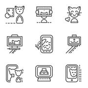 Simple line icons for selfie Piirros