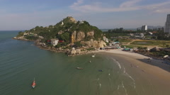 Aerial view Hua Hin city in Thailand Stock Footage