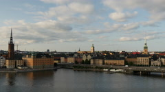 Time lapse of Ridderholmen and Gamla Stan in Stockholm Sweden Stock Footage