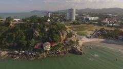 Aerial view Hua Hin city in Thailand - stock footage