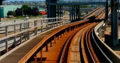4K Vancouver Skytrain Canada Line, Translink Passenger Rail Transportation Stock Footage