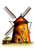 Windmill Stock Illustration