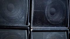 Sub-woofer. Speaker part. 4k footage. Stock Footage