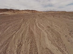 Aerial shoot of the desert in Nevada Stock Footage