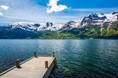 Beautiful Nature Norway. Stock Photos