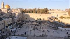 Western Wall in Jerusalem Timelapse - stock footage