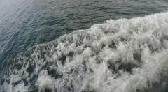 Waves was in SloMo fromSteamboat in Stockholm archipelago - stock footage