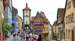 Ploenlein, Rothenburg ob der Tauber, Germany Stock Footage