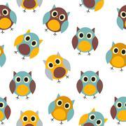 Stock Illustration of Owl Seamless Pattern Background Vector Illustration