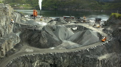 Aerial drone shot of a quarry - stock footage