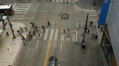 Seattle, City Street, 3rd Ave, Crosswalk Stock Footage