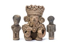 Pre Columbian Warriors. Stock Photos