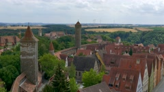 Cityscape at Rothenburg ob der Tauber, Germany Stock Footage