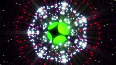 Green Energy Sphere VJ Loop 2 Stock Footage