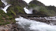 Stock Video Footage of Latefossen