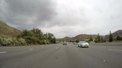 Rear View Ventura 101 Freeway Time Lapse Stock Footage