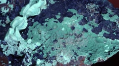 Blue Azurite and green Malachite Stock Footage