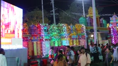 Indian People enjoying Religion Carnival Stock Footage