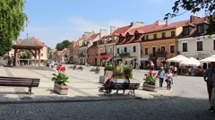 Old Town in Sandomierz, an important city in the history of Poland 2 Stock Footage