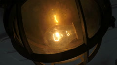 Lamp on Steamboat in Stockholm archipelago - stock footage