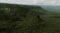 Flying over Mount Caburaí aerial drone Stock Footage