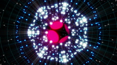 Stock Video Footage of Pink Energy Sphere VJ Loop 2