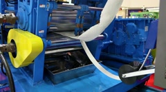 Stock Video Footage of Techno Rubber specialized isreconditioning machine for rubber processing.