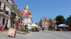 Old Town in Sandomierz, an important city in the history of Poland Stock Footage