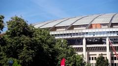 Reconstruction of Luzhniki stadium in Moscow, Russia Stock Footage