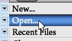 "Press button ""Open"" in the menu Arkistovideo"