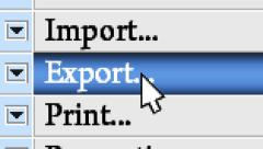 "Press button ""Export"" in the menu - stock footage"