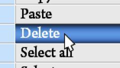 """Press button """"Delete"""" in the menu Arkistovideo"""