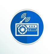 Stock Illustration of radio icon vector station symbol fm antenna
