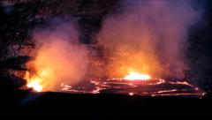 Halemaumau Crater Eruption Stock Footage