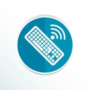 Computer keyboard key sign icon, vector illustration. Stock Illustration