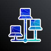Network - vector icon networking wired lan web Stock Illustration