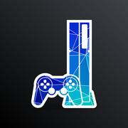 Game controller icon video gaming game electronics - stock illustration