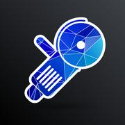 Simple icon angle grinder electro vector work - stock illustration