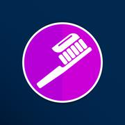 Toothbrush With Paste brush icon vector isolated human paste - stock illustration