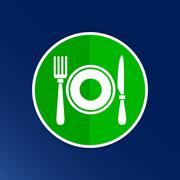 Restaurant menu symbol such logo food cafe Piirros