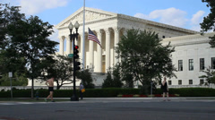 Street View of the US Supreme Court Stock Footage