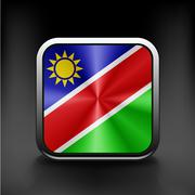 Sovereign state flag of country of Namibia in official colors. Stock Illustration