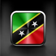 Original and simple Saint Kitts and Nevis flag Stock Illustration