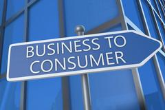 Business to Consumer - stock illustration