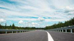 4K - Timelapse of an empty road Stock Footage