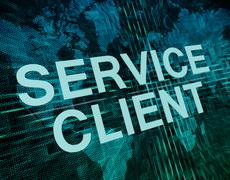Service Client - stock illustration