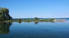 Blue Water Lake Simcoe Stock Footage