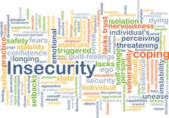 Insecurity background concept Stock Illustration