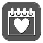The calendar icon. Valentines day symbol - stock illustration