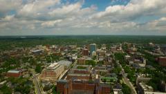 Ann Arbor Aerial Stock Footage